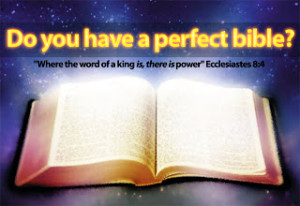 Do You Have Perfect Bible